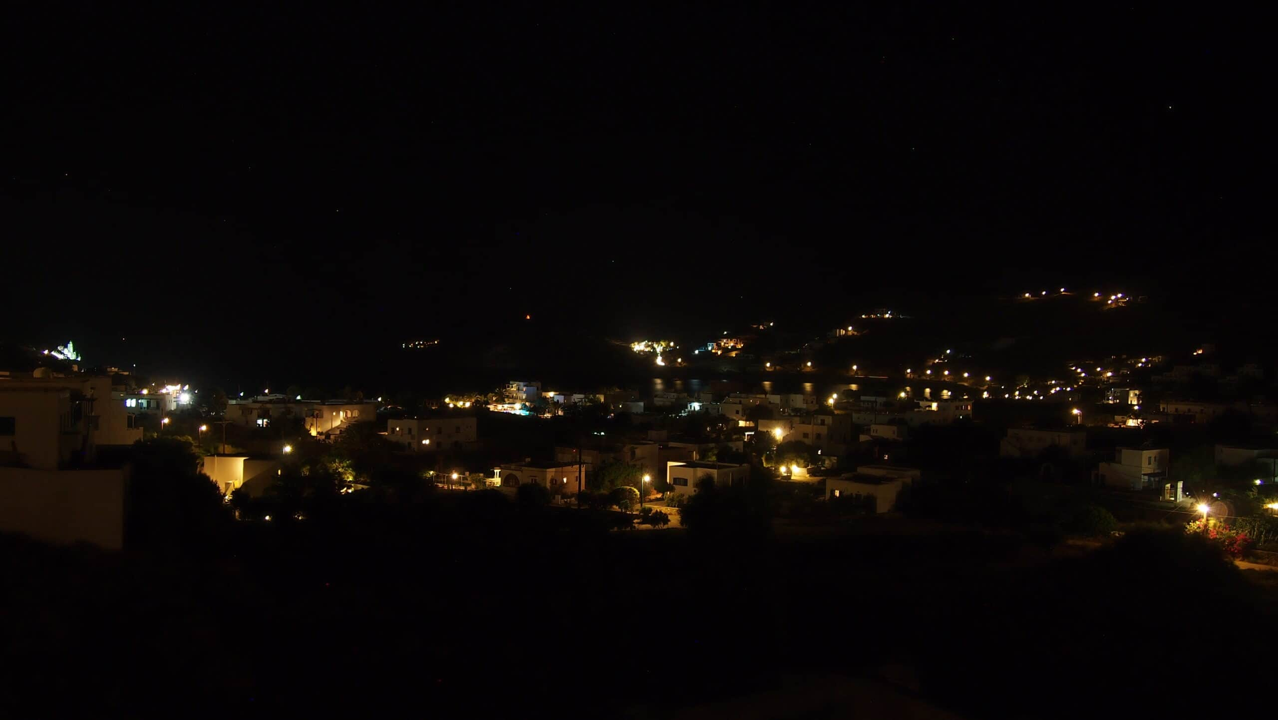 Night veranda view